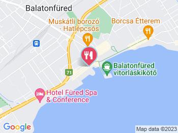 Halászkert Étterem Balatonfüred a térképen
