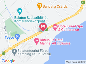 Danubius Hotel Marina Balatonfüred a térképen