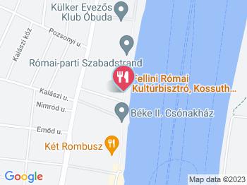 Fellini Római Kultúrbisztró Budapest a térképen