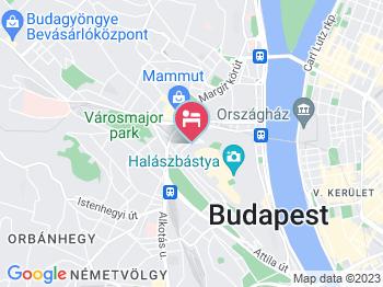 Hotel Castle Garden Budapest a térképen
