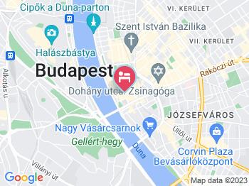 Mercure Budapest City Center Hotel Budapest a térképen