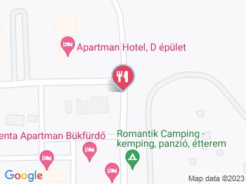 Fürdő Étterem PRÉRI KFT Bük, Bükfürdő a térképen