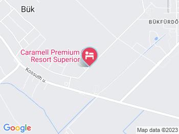 Caramell Premium Resort Bük, Bükfürdő a térképen