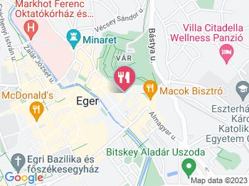 Palacsintavár Eger a térképen