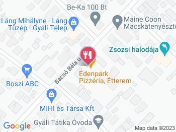 gyál térkép Éden Park Étterem Pizzéria Gyál   Jártál már itt? Olvass  gyál térkép