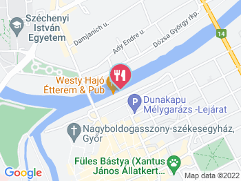 Hajó Étterem Győr a térképen