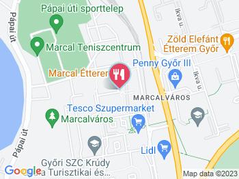 Marcal Étterem Győr a térképen