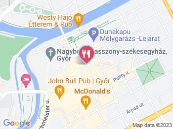 PálffY'tália Étterem Győr a térképen