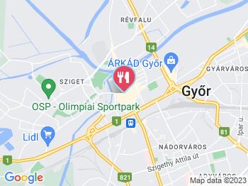 Patio Étterem Győr a térképen