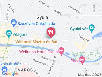 Várkonyi Bistro & Bar Gyula a térképen