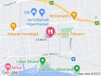Tompos Étterem Keszthely a térképen