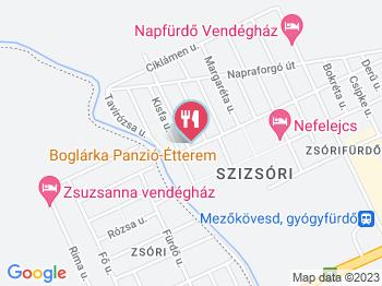 Boglárka Étterem Mezőkövesd a térképen