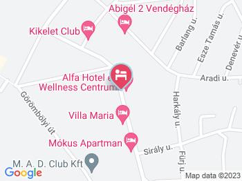 Alfa Hotel Miskolctapolca a térképen
