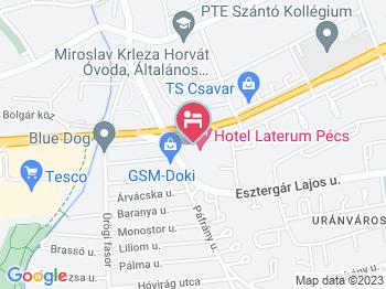 Laterum Hotel Pécs a térképen
