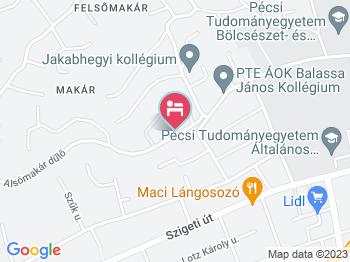Hotel Makár Sport & Wellness Pécs a térképen