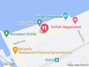 Lávakövi Pizzéria Siófok a térképen
